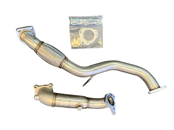 CNT Racing V2 2016-2019 Honda civic 1.5 Turbo cast catless downpipe and front pipe - CNT Racing