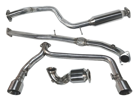 Tsudo 12+ Fiat Abarth rolled tip Turbo back Exhaust w/ Catted Downpipe - CNT Racing