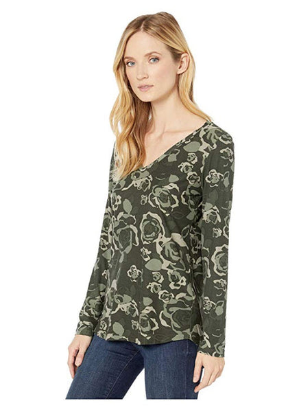 Tribal Cypress Floral Mix Top