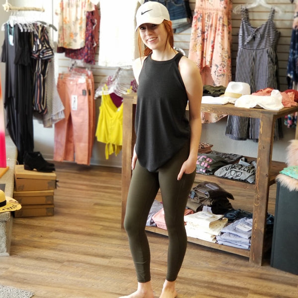 Olive Ultimate Side Pocket Leggings