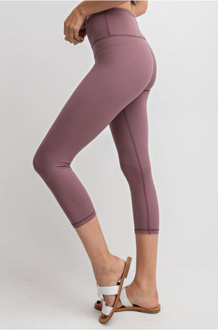 Mauve Ultimate Crop Leggings