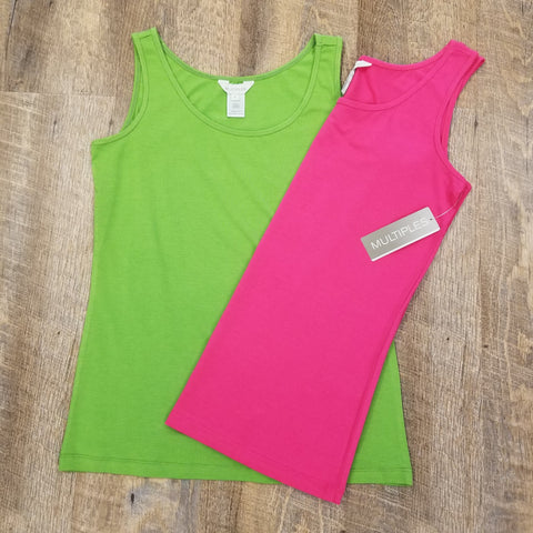 Multiples Scoop Neck Tanks - 2 Color Options