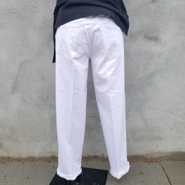 Multiples White Cropped Pant
