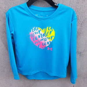 UA: Girls Turquoise Heart Top