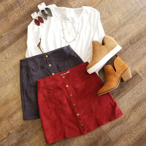 Corduroy Button Up Mini