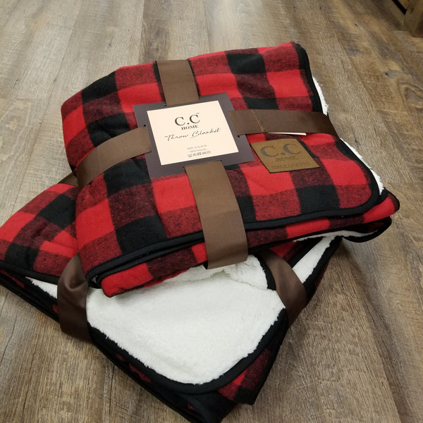C.C Beanie: Buffalo Check Blanket