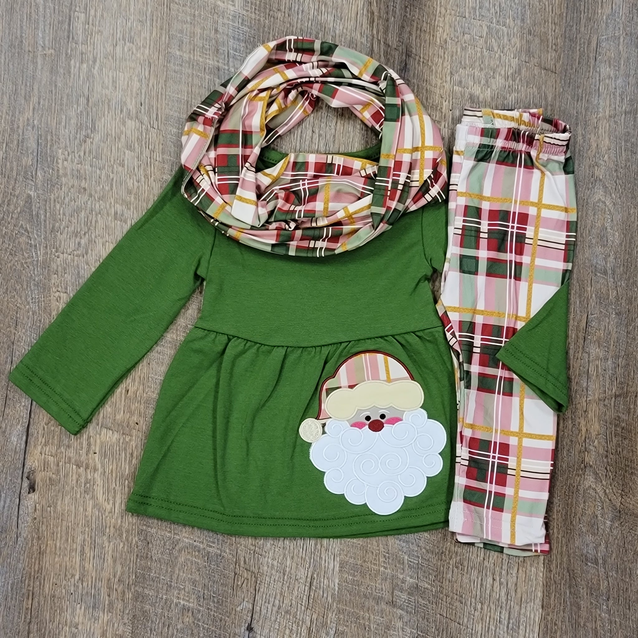 Girls Santa Set With Scarf
