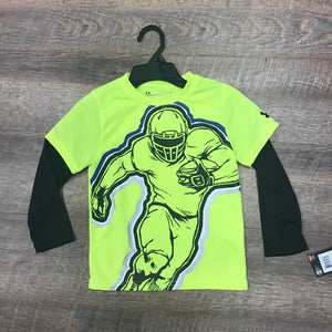 UA: Boys Hi Vis Yellow Football Shirt