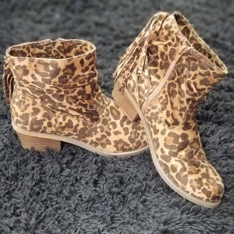 Veronica Leopard Booties