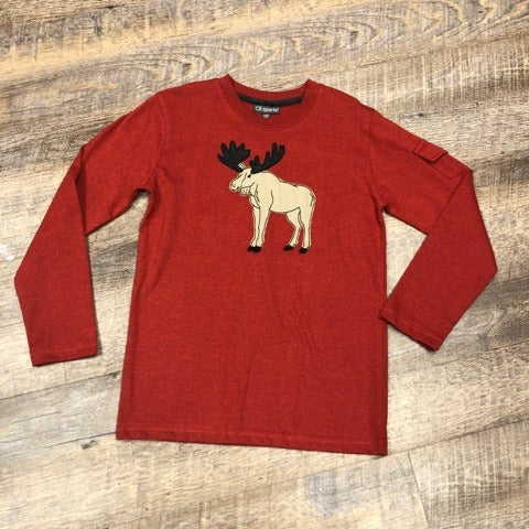 Boys Red Moose Long Sleeve