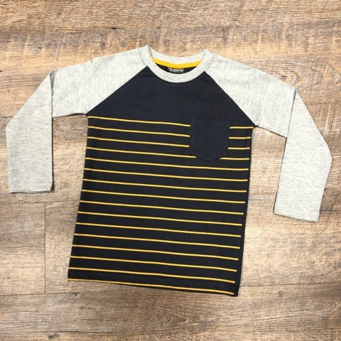 Boys Stripe Pocket Long Sleeve