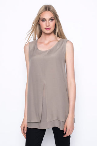 Picadilly Layered Tank With Front Slit