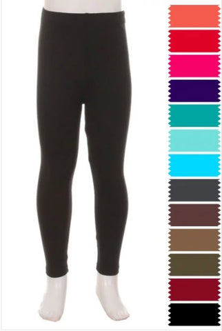 Girls Solid Legging