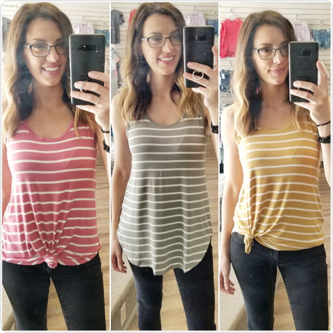Striped Tanks