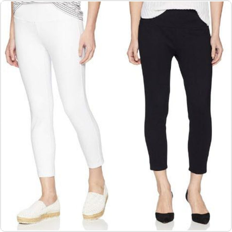 Slim Sation Solid Ponti Crop Legging- 2 Colors