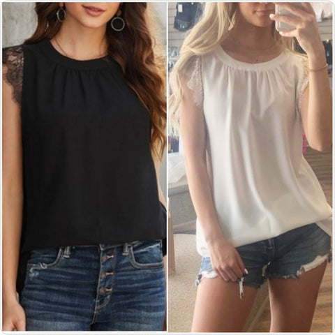 Sleeveless Lace Tanks