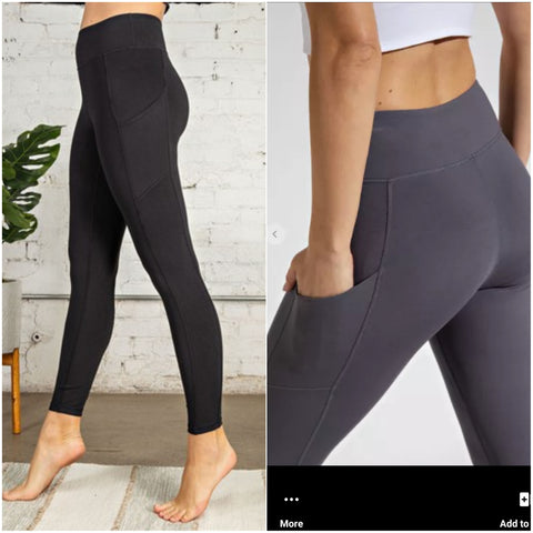 Black Ultimate Side Pocket Leggings
