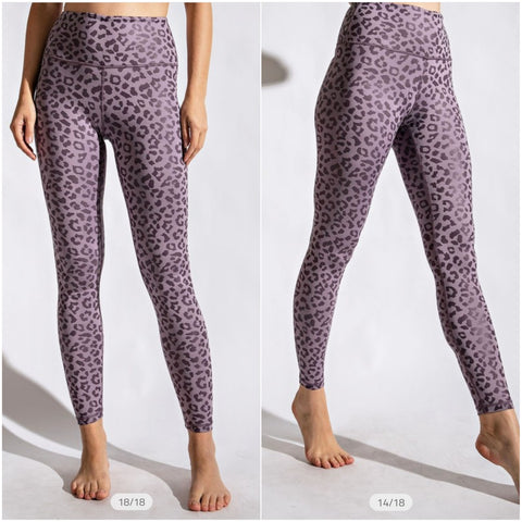 Violet Leopard Shine Ultimate Leggings
