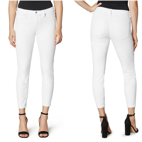 Liverpool Madonna Crop Skinny White Jeans