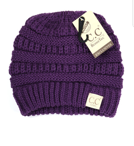 C.C Beanie: Kids Tail/Messy Bun