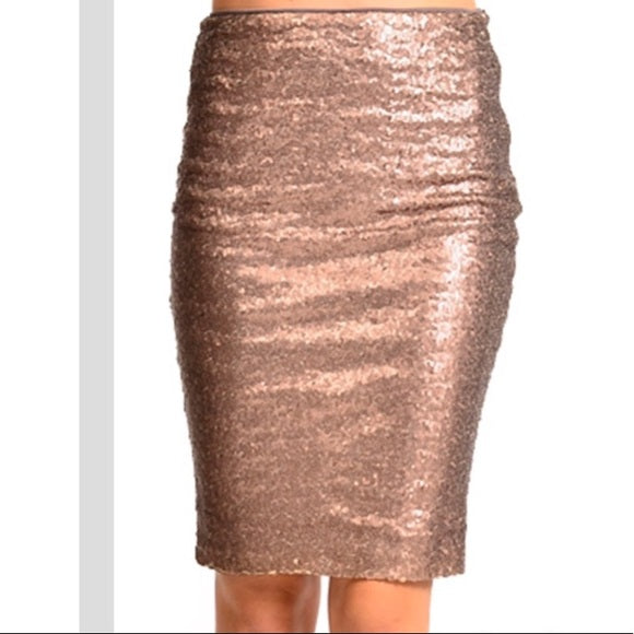 Sequin Pencil Skirt- 2 Color Options