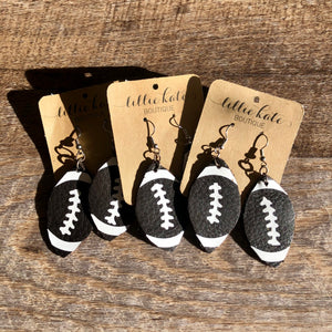 Football Faux Leather Earring
