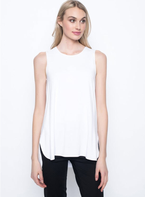 Curved Hem Tank Top by Picadilly-3 color options