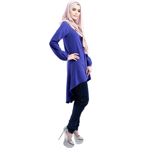 Casual Fashion Muslim Shirt Dress Cottom Kaftan Instant Hijab Women Tops Abaya Islamic Dresses Vestido Arab Robe Summer Style 31