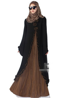 New Arrival Islamic Muslim long dress for Women Malaysia abayas in Dubai Turkish ladies clothing high quality long dress KJ