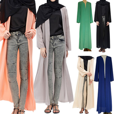 2017 Fashion Women Muslim Cardigan Turkish Dubai Clothing Long Coat Outwear Tops H9