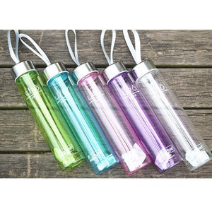 water bottle Sport Outdoor Sports Drinking Water Bottles plastic Summer 280ML Transparent Portable Bike Sports camping