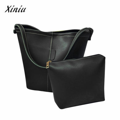 Xiniu bags Women Fashion 2pcs Leather Satchel Satchel Hobo Bag Women Messenger Bag Women Small Clutch Bag