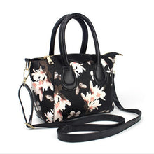 2016 Floral Flower Printing Women Leather Satchel Handbag Shoulder Tote Messenger Crossbody Bag bolsa feminina para mujer #25