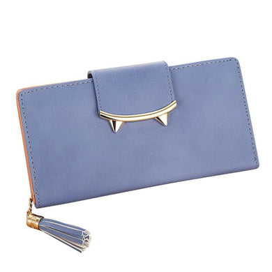 2017 Kawaii Cat Women PU Long Clutch Wallet With Tassel Lady Clutch Fashion Korean Envelope Women Wallet Coin Pocket Card Holder