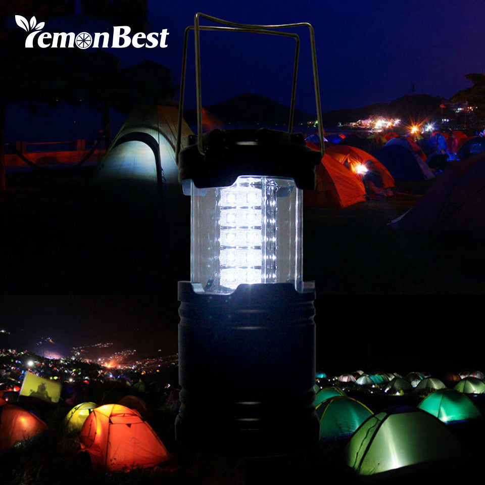 Lemonbest 30-LED Outdoor Waterproof Camping Light Portable Emergency Lamp with Handle AA battery powered Night Lamp Hiking Lante