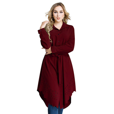 Arabic Women Dress Loose Belted Robe Femme Islamic Clothing Cardigan Malaysia Turkish Pakistani Fashion  Plus Size Muslim Dress