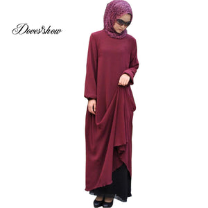 Reversible Wearing Design Abaya Traditional Islamic Clothing Muslim Dress Women Maxi Long Jilbabs Djellaba Robe Musulmane 5XL