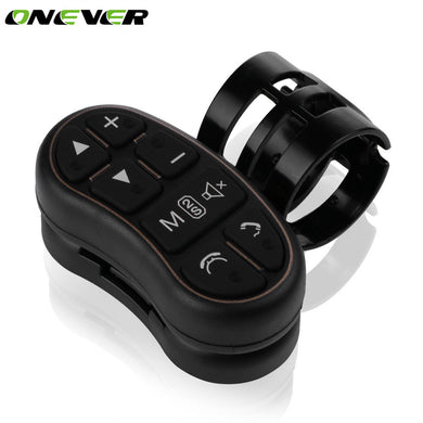 Onever Car Steering Wheel Button Remote Control Key Car DVD GPS Player Steering Wheel Controller Key Button for DVD Player GPS