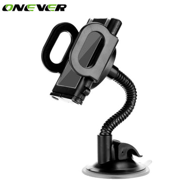 Onever Car Universal Holder GPS Navigator Bracket Holder Bendable Windshield Mount Holder Stand with Sucker for iPhone Phone GPS