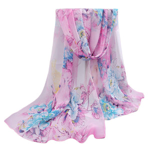 From India Top Sell 2017 New Women For 4 Seasons Scarves Polka Velvet Chiffon Bohemia Flower Fashion