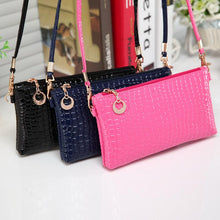 Women Crocodile Leather Messenger Crossbody Clutch Shoulder Handbag