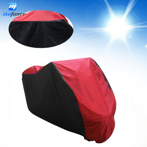 Mofaner 180T Waterproof Motorcycle Cover UV Protective Scooter Rain Breathable Street Bike Motor Dustproof Covers