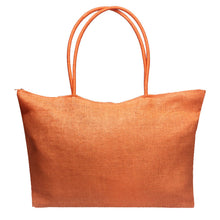 Simple Candy Color Large Straw Beach Bags Women Casual Shoulder Bag