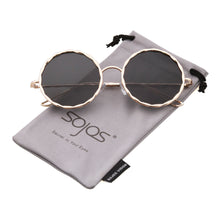 Round Sunglasses for Women Metal Frame Circle Lens SJ1090