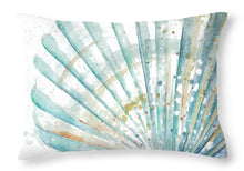 Water Shell Throw Pillow