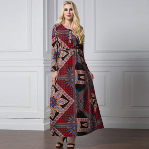 Muslim Women Long Dress Big size Abaya Kaftan Dress Jilbab Dubai slamic Robe Vintage Plus size 4xl 5xl 6xl Loose Long Maxi Dress
