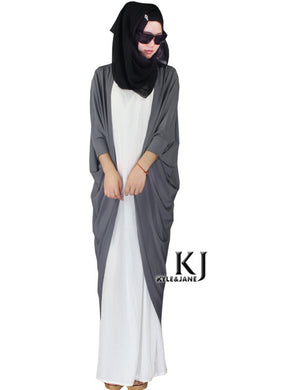 Grey Tunic Outwear Abaya Party Dress Traditional Islamic Clothing Brand Muslim Dress Women Maxi Long Jilbabs Dubai Abaya 5XL
