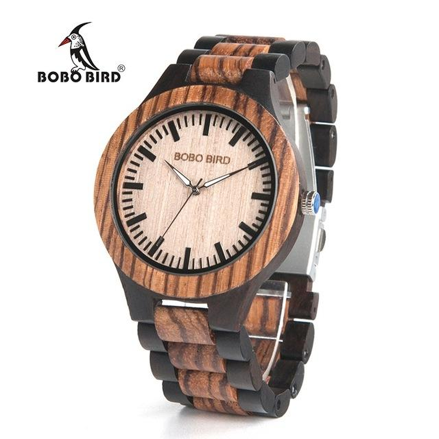 with gift wristwatches s all watch men quartz strap bird from wristwatch as watches item black japan movement in wood gifts for idea bobo bobobird best wooden