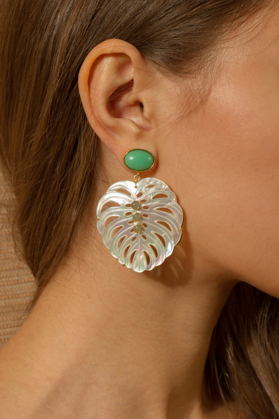 Amazon Earrings in Ocean Green