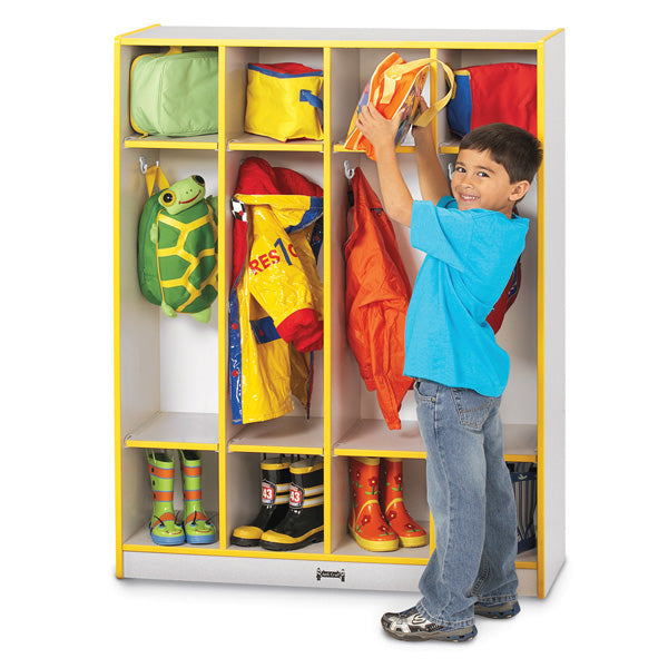Jonti Craft Rainbow Accents 4 Section Coat Locker